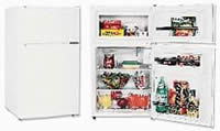 Sanyo SR-290W Two-Door Deluxe Counter-High Refrigerator