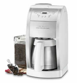 Cuisinart DGB-600BCW 10-Cup Automatic Coffeemaker User Manual
