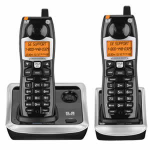 GE 25922EE2 Cordless 5.8GHz Dual Handset Phone System