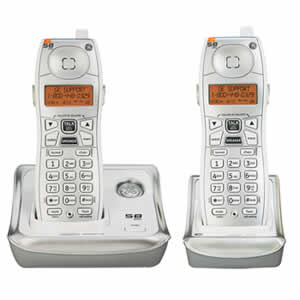 GE 25922GE2 Cordless 5.8GHz Dual Handset Phone System