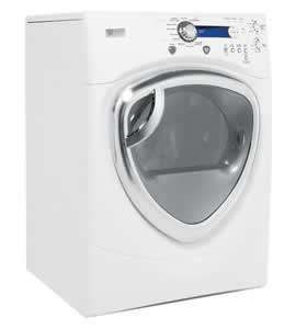 GE DPVH890EJWW Profile Colossal Capacity Electric Dryer