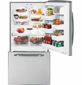 GE GDSL3KCYRLS Bottom Freezer Drawer Refrigerator