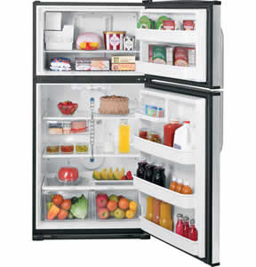 GE GTS21SCXSS Stainless Top-Freezer Refrigerator