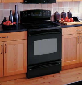 GE JB988BKBB Profile Free-Standing Electric Convection Range