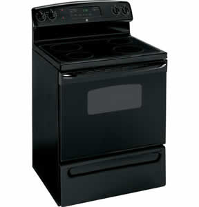 GE JBP23DNBB Free-Standing CleanDesign Electric Range