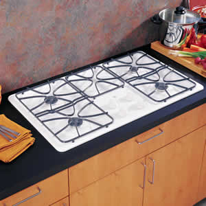 GE JGP628WEKWW Built-In Gas Cooktop