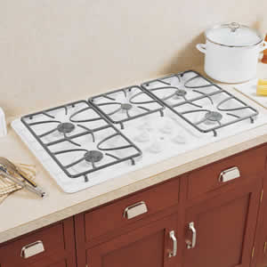 GE JGP630WEKWW Built-In Gas Cooktop