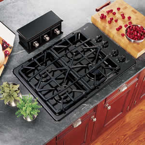 GE JGP933BEKBB Profile Built-In Gas Cooktop