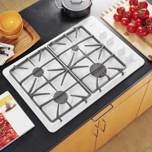 GE JGP933WEKWW Profile Built-In Gas Cooktop