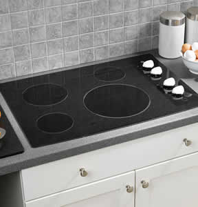 GE JP346WMWW Built-In CleanDesign Electric Cooktop
