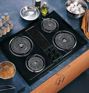 GE JP389BJBB Select-Top Modular Downdraft Cooktop