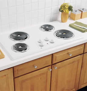 GE JP626WKWW Built-In Electric Cooktop