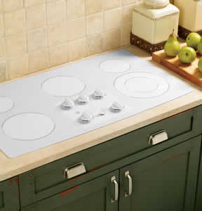 GE JP655TMWW Built-In Electric Cooktop