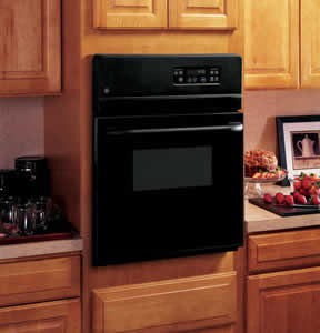 GE JRS06BJBB Electric Single Standard Clean Wall Oven