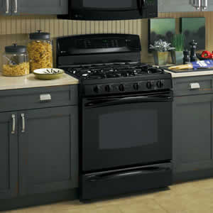 GE P2B918DEMBB Profile Free-Standing Dual-Fuel Double Oven Range