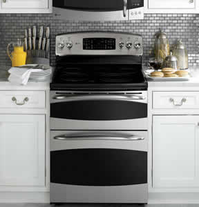 GE PB970SPSS Profile Free-Standing Double Oven Range