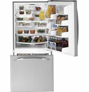 Ge profile refrigerator bottom