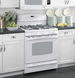 GE PGB908DEMWW Profile Free-Standing Self-Clean Gas Range