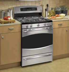 GE PGB916SEMSS Profile Free-Standing Self Clean Convection Gas Range