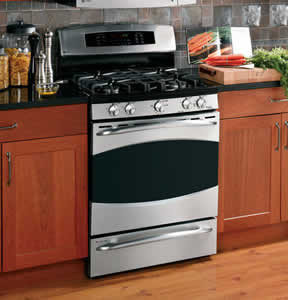 GE PGB928SEMSS Profile Free-Standing Double Oven Range