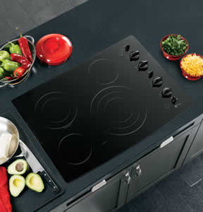 GE PP942BMBB Profile Built-In CleanDesign Electric Cooktop