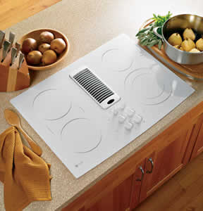GE PP989TNWW Profile Downdraft Electric Cooktop