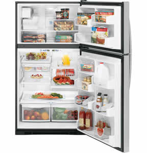 GE PTS22SHSSS Profile Stainless Top-Freezer Refrigerator