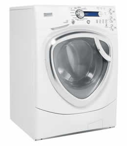 GE WPDH8900JWW Profile Colossal Capacity Frontload Washer