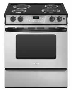 Whirlpool RY160LXTS Self-Cleaning Slide-In Electric Coil Range